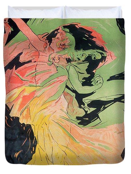 Folies Bergeres Duvet Cover by Jules Cheret