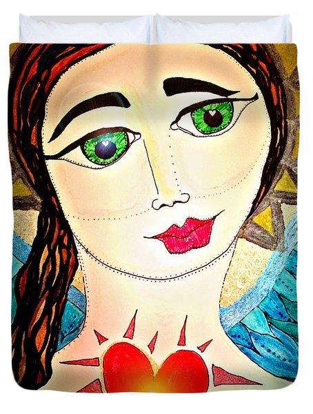 Folk Athena Duvet Cover