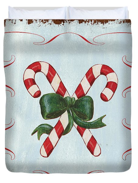 Folk Candy Cane Duvet Cover