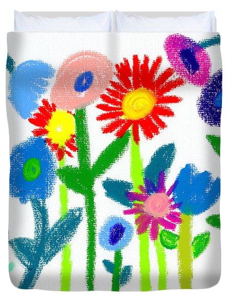 Folk Garden Duvet Cover