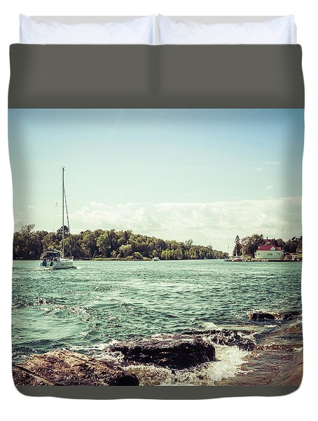 Duvet Cover featuring the photograph Follow Me Now by Joel Witmeyer