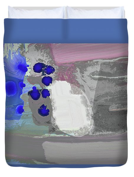 Follow The Blue Steps And Fly Free Duvet Cover by Amara Dacer