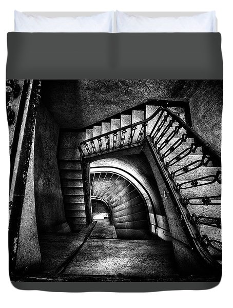 Duvet Cover featuring the photograph Follow The Light by Dirk Ercken