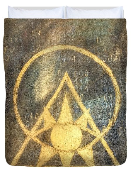 Follow The Light - Illuminati And Binary Duvet Cover