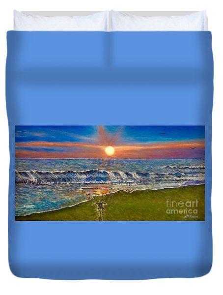 Follow The One True Light Duvet Cover