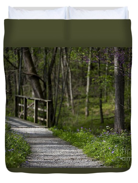 Duvet Cover featuring the photograph Follow The Path by Andrea Silies