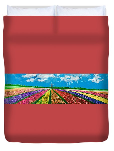 Follow The Rainbow Duvet Cover by Belinda Low
