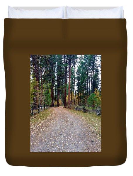 Follow The Road Less Traveled Duvet Cover by Jennifer Lake