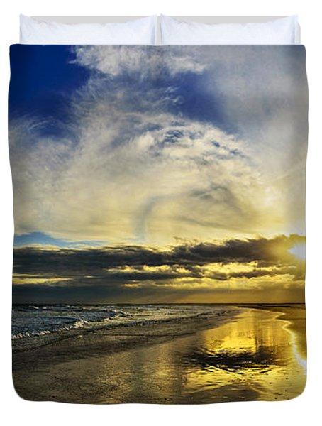 Follow The Sun Duvet Cover