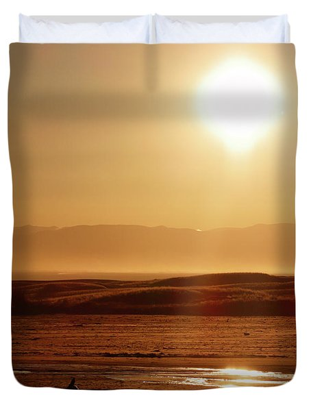 Follow The Sun Duvet Cover