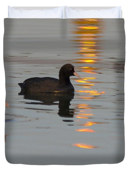 Following The Gold Line Duvet Cover