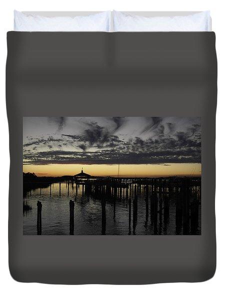 Folly Beach Dock Duvet Cover