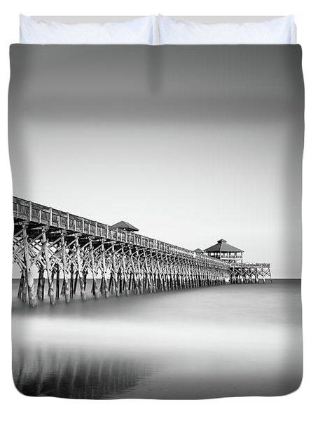 Folly Beach Pier Duvet Cover