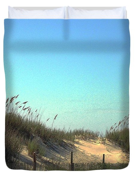 Folly Beach Sc Dunes Duvet Cover