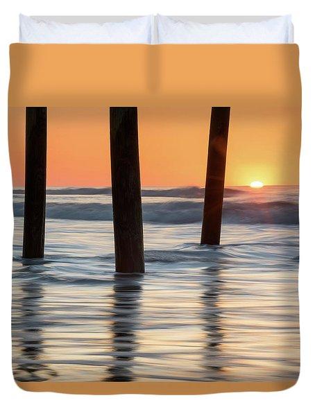 Folly Beach Sunrise Charleston South Carolina Duvet Cover by Mark VanDyke