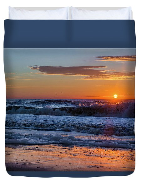 Folly Beach Sunrise Duvet Cover