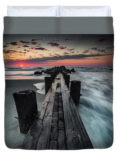 Folly Beach Tale Of Two Sides Duvet Cover