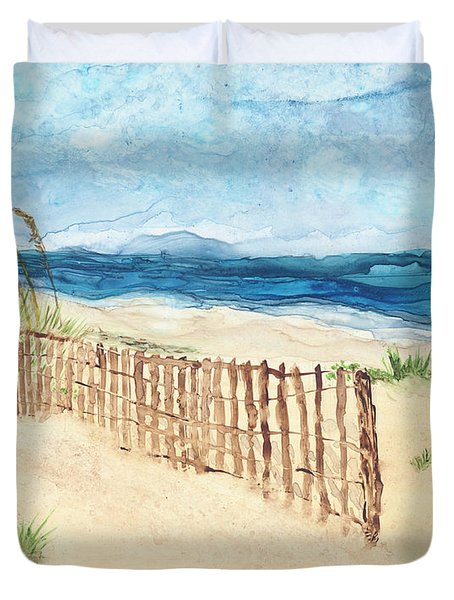 Folly Field Fence Duvet Cover