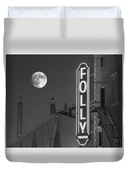 Folly Theatre Kansas City Duvet Cover by Don Spenner