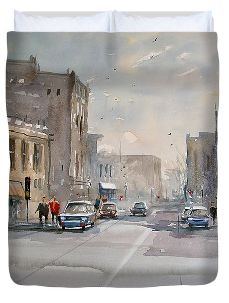 Fond Du Lac - Main Street Duvet Cover