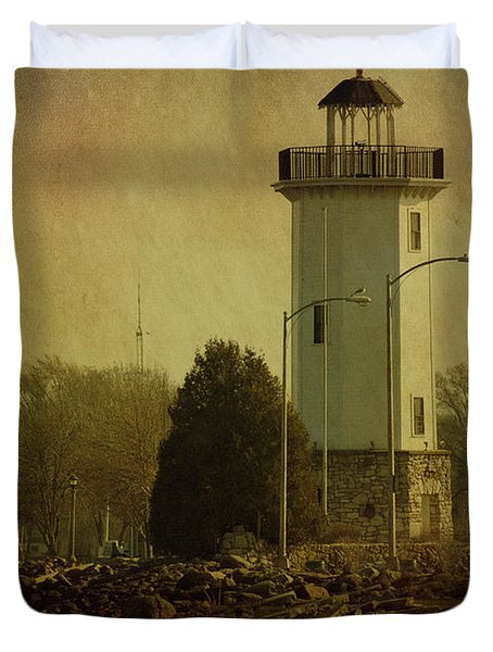 Fond Du Lac Lighthouse Duvet Cover