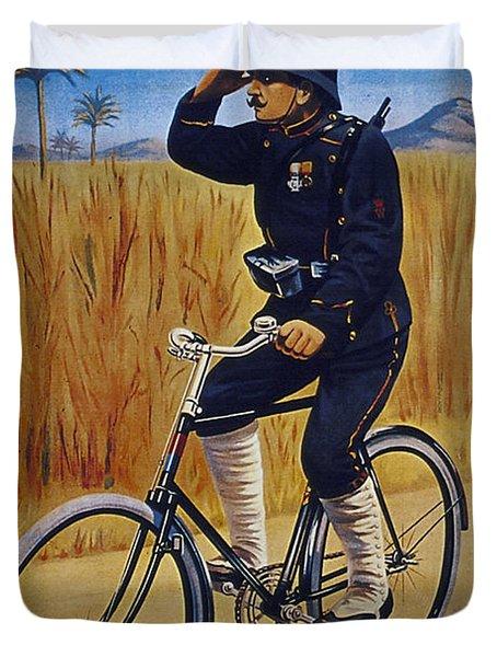 Fongers In Gebruik Bil Nederlandsche En Nederlndsch Indische Leger Vintage Cycle Poster Duvet Cover