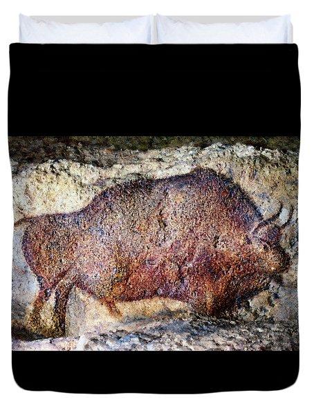 Font De Gaume Bison Duvet Cover