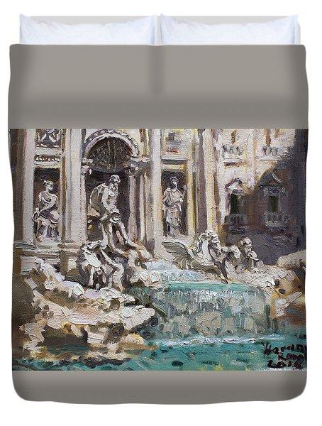 Fontana Di Trevi Rome Duvet Cover