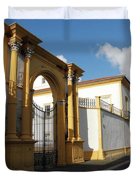 Fonte Bela Palace - Azores Duvet Cover by Gaspar Avila