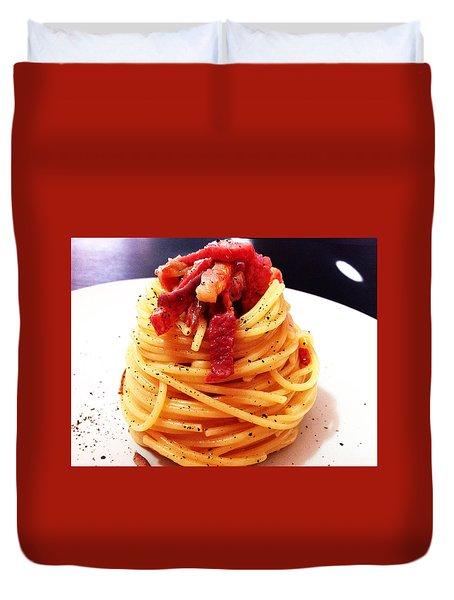 Food Art Pasta By Alessia Golosi Peccati Foodblog Duvet Cover