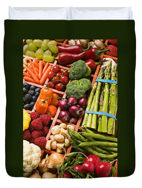 Food Compartments  Duvet Cover