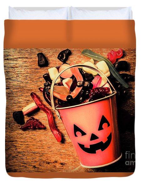 Food For The Little Halloween Spooks Duvet Cover
