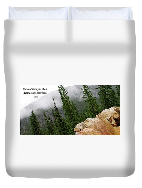 Food For Thought Duvet Cover