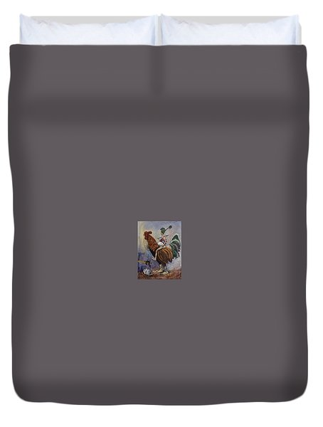 Food For Your Son Duvet Cover