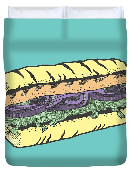 Food Masquerade Duvet Cover