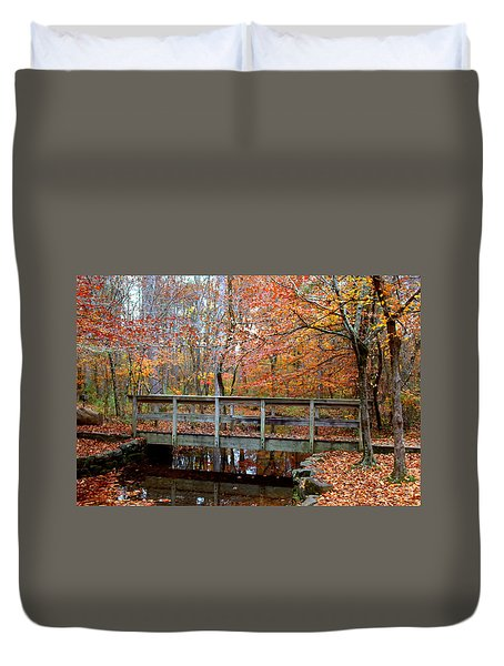 Foot Bridge Duvet Cover