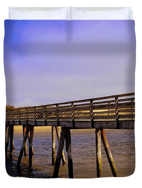 Foot Bridge Over The  Ogunquit River  Duvet Cover
