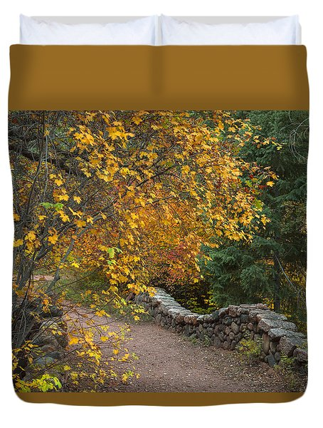 Foot Bridge Duvet Cover