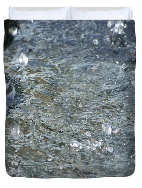 Foot Of The Fountain Duvet Cover