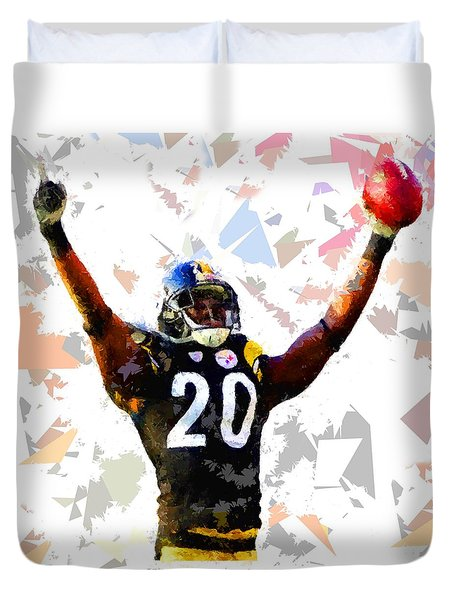 Duvet Cover featuring the painting Football 113 by Movie Poster Prints