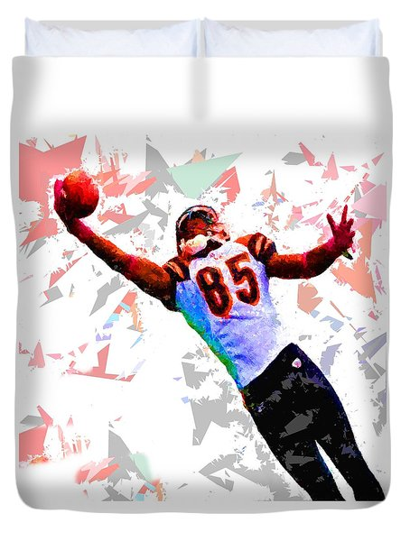 Duvet Cover featuring the painting Football 114 by Movie Poster Prints