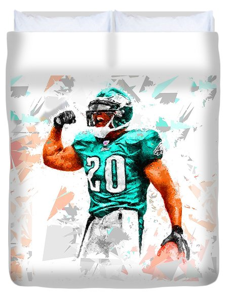 Duvet Cover featuring the painting Football 115 by Movie Poster Prints