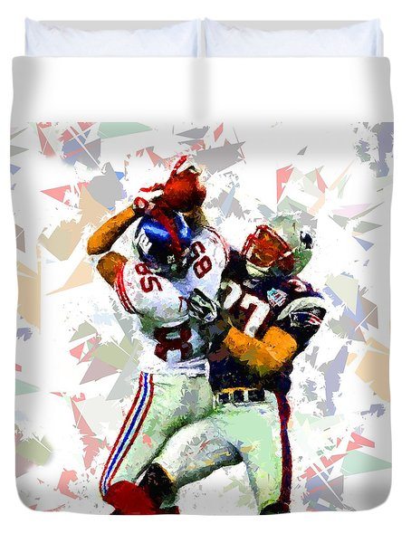Duvet Cover featuring the painting Football 116 by Movie Poster Prints