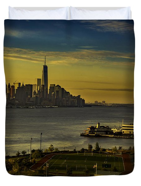 Football Field With A View Duvet Cover