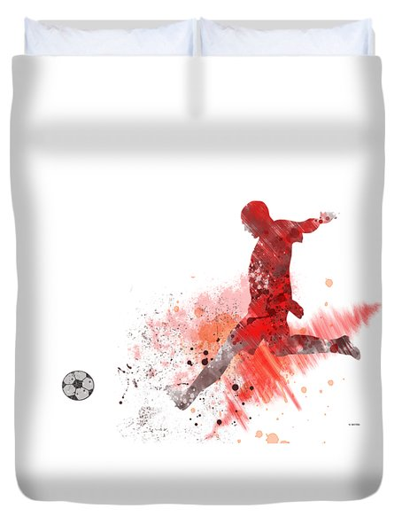 Football Player Duvet Cover by Marlene Watson