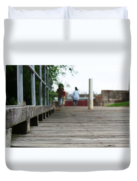 Footbridge Duvet Cover by David S Reynolds