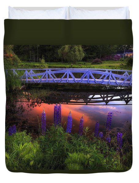 Footbridge Sunset Duvet Cover