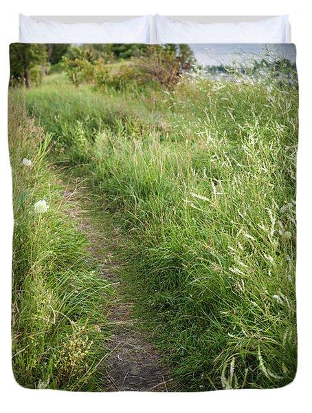 Footpath Along Cliffs Duvet Cover