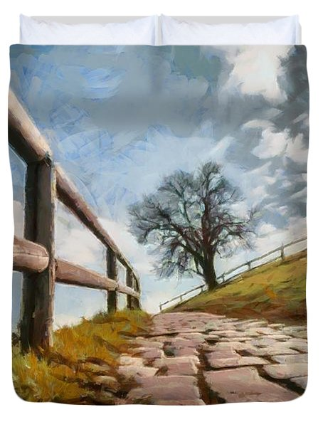 Footpath Duvet Cover by Sergey Simanovsky