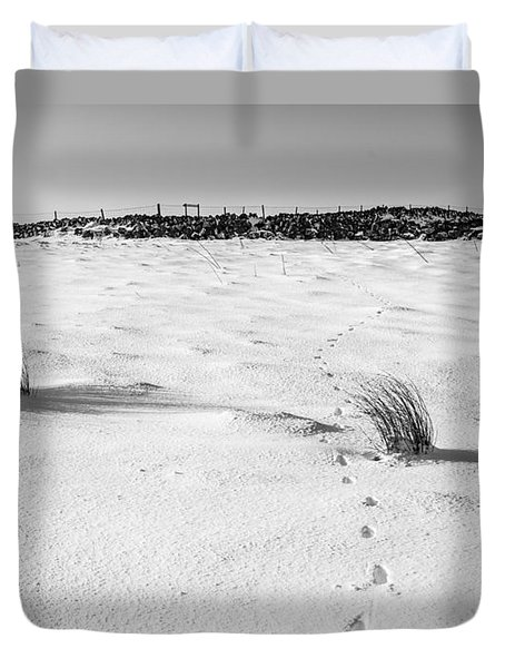 Footprints In The Snow I Duvet Cover